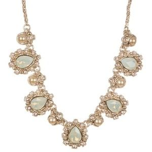 Marchesa Crystal & Faux  Pearl Collar Necklace